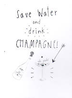 Mini Card: Piano Drink Champagne