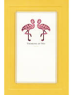 Sympathy Card Thinking of You Hallmark Flamingoes