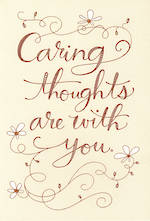 Sympathy Card Thinking of You Hallmark Large Caring Thoughts