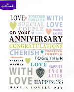 Anniversary Card Your Love Text