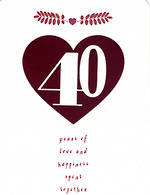 Anniversary Card 40th Ruby Hallmark Heart