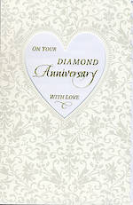 Anniversary Card 60th Diamond Framed Heart