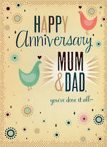 Anniversary Card Mum & Dad Doves