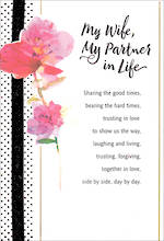 Anniversary Card Wife Hallmark Partner Life