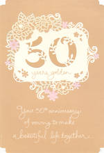 Anniversary Card 50th Gold Hallmark Years Golden