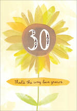 Anniversary Card 30th Pearl Hallmark Sunflower