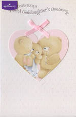 Baby Christening Card Goddaughter