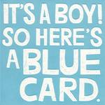Baby Card Boy White Text