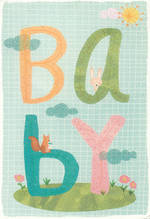 Baby Card Illustrative Letters