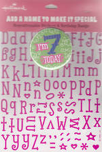 Birthday Age Card 7 Girl New Badge Candy