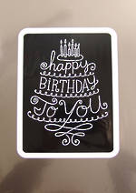 Jumbo Card: Hallmark Colossal Birthday Silver