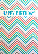 Jumbo Card: Hallmark Colossal Birthday Zigzag