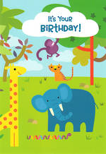 Hangsell Hallmark Value Birthday Juvenile Elephant