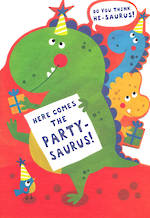 Hangsell Hallmark Value Birthday Juvenile Partysaurus