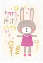 Hangsell Hallmark Value Birthday Juvenile Bunny