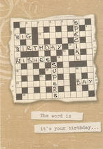 Hangsell Hallmark Value Birthday Male Crossword