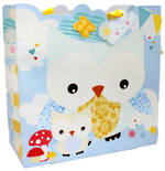 Large Gift Bag Baby Boy Owl
