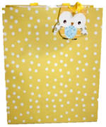 Large Gift Bag Baby General Yellow Spots