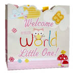 Medium Gift Bag Baby Girl Owl
