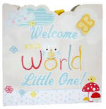 Medium Gift Bag Baby Boy Owl