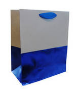 Medium Gift Bag Male Blue Kraft