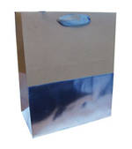 Medium Gift Bag Male Silver Kraft