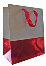 Large Gift Bag General Dip Dyed Red