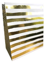 Large Gift Bag Gold Foil Stripe