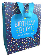 Medium Gift Bag Happy Jackson Male Birthday Boy