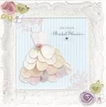 Bridal Shower Card Hallmark Petal Dress