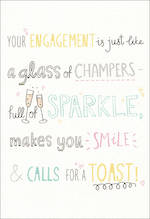 Engagement Card Hallmark Champers