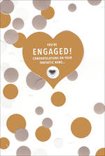 Engagement Card Hallmark Bronze Dots