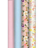 Roll Wrap: Box of 24 - Premix Pastels (4 Assorted Designs)