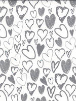 Folded Wrap Special Occasion Silver Hearts