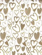 Folded Wrap Special Occasion Gold Hearts
