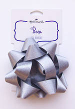 Bow Fabric Silver Satin