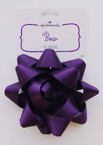 Bow Fabric Purple Satin