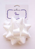 Bow Fabric White Satin