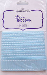 Ribbon Fabric Light Blue 2m