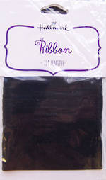 Ribbon Fabric Black Satin 2m