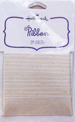 Ribbon Fabric Gold Satin 2m