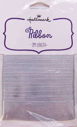 Ribbon Fabric Silver Satin 2m