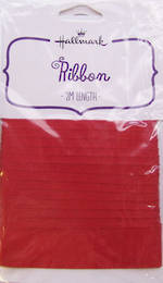 Ribbon Fabric Red 2m