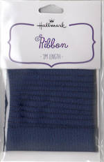 Ribbon Dark Blue Grosgrain Fabric 2m