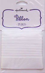 Ribbon Fabric White Satin 2m