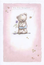 Daughter Birthday Card: Cute Bear