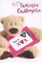 Goddaughter Birthday Card: Birthday Bear