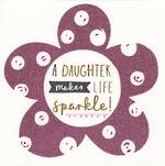 Daughter Birthday Card: Pink Glitter