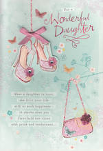 Daughter Birthday Card: Hallmark Shoes Bag