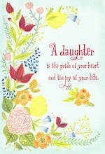 Daughter Birthday Card Hallmark Large Pride Joy Floral